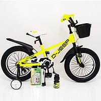 """Детский двухколесный велосипед Hammer D-JEEP салатового цвета 16"""", фото 1"""