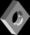 DIN562 Гайка квадратная низкая М4 оцинкованная 04 (1000 шт/уп)