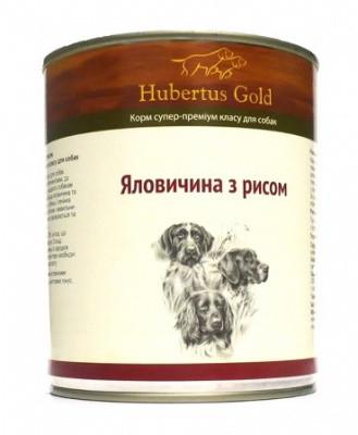 Hubertus Gold Консерви для собак Телятина і рис 800 гр