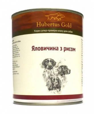 Hubertus Gold Консерви для собак Телятина і рис 800 гр, фото 2