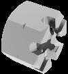 DIN935 Гайка М6 коронч А2