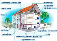 Монтаж отопления, водопровода, канализации, сантехники.