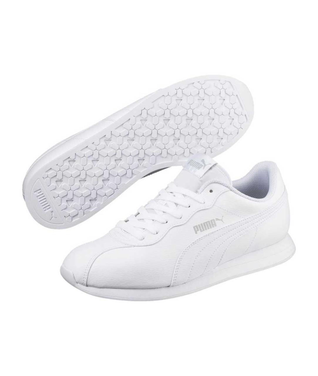 Женские белые кроссовки Puma Turn II