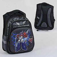 Рюкзак школьный С 36310 (36) 2 отделения, 3 кармана, спинка ортопедическая, 3D принт
