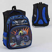 Рюкзак школьный С 36311 (36) 2 отделения, 3 кармана, спинка ортопедическая, 3D принт