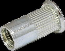 Гайка М8/0,5-3 клеп рифл А2 пл D11