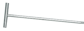 Т-подібна ручка для йоржика L300 сталь