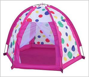 Детская палатка в горошек