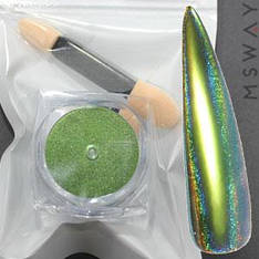Втирка 20049 пигмент Color Призма оливка с купольным голограф. переливом 0.3г