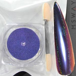 Втирка 20056 пигмент Color Призма синий с купольным голограф. переливом 0.3г, фото 2