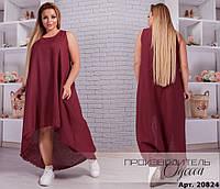 Платье лёгкое шифоновое свободного покроя в расцветках