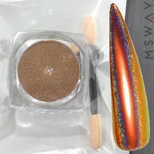 Втирка 20060 пигмент Color Призма оранж красный с купольным голограф. переливом 0.3г, фото 2