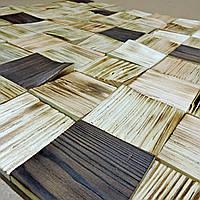"""Панно деревянное """"3D плитка 80"""" бенгала-венге"""