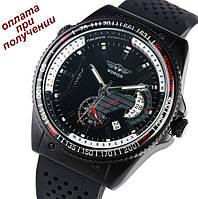 Чоловічий механічний годинник скелетон Skeleton ОРИГІНАЛ Winner з робочою датою, фото 1