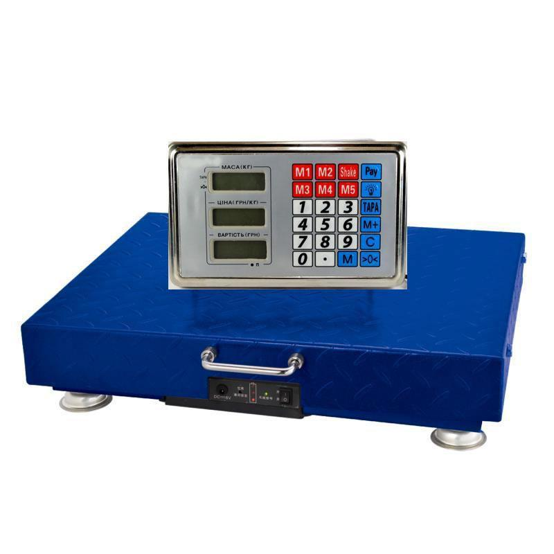 Весы торговые ACS 350kg с WIFI 40*50 электронные торговые беспроводные весы