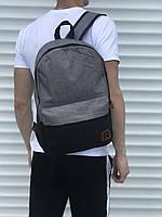 🎒 Спортивный рюкзак в стиле Reebok, серый с черным 💯 Лучшей Цене