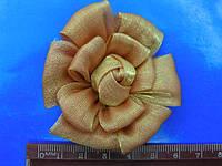 Цветок пришивной из органзы