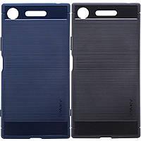 Защитный чехол iPaky Slim с карбоновыми вставками для Sony Xperia XZ1 / XZ1 Dual черный