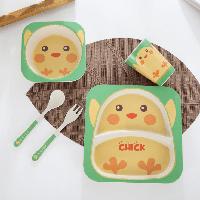 Набор детской посуды из бамбука 5 предметов BoxShop Цыплёнок (DP-4568), фото 1