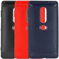 Защитный чехол iPaky Slim с карбоновыми вставками для Sony Xperia XZ2 Premium черный