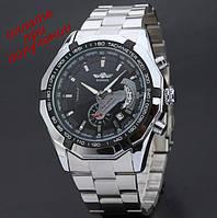 Мужские механические часы скелетон Skeleton ОРИГИНАЛ Winner с рабочей датой, фото 1