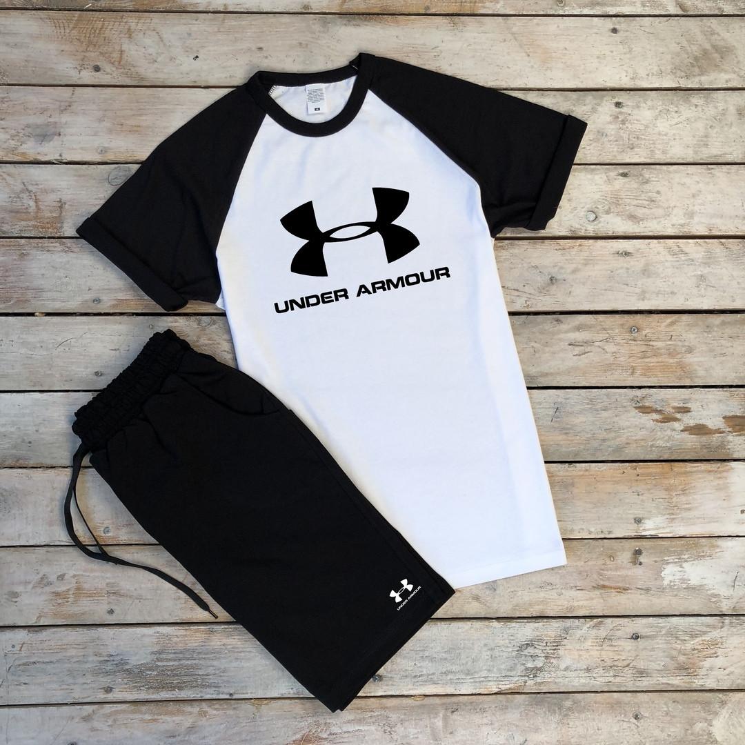 Мужская летняя футболка черная с белым