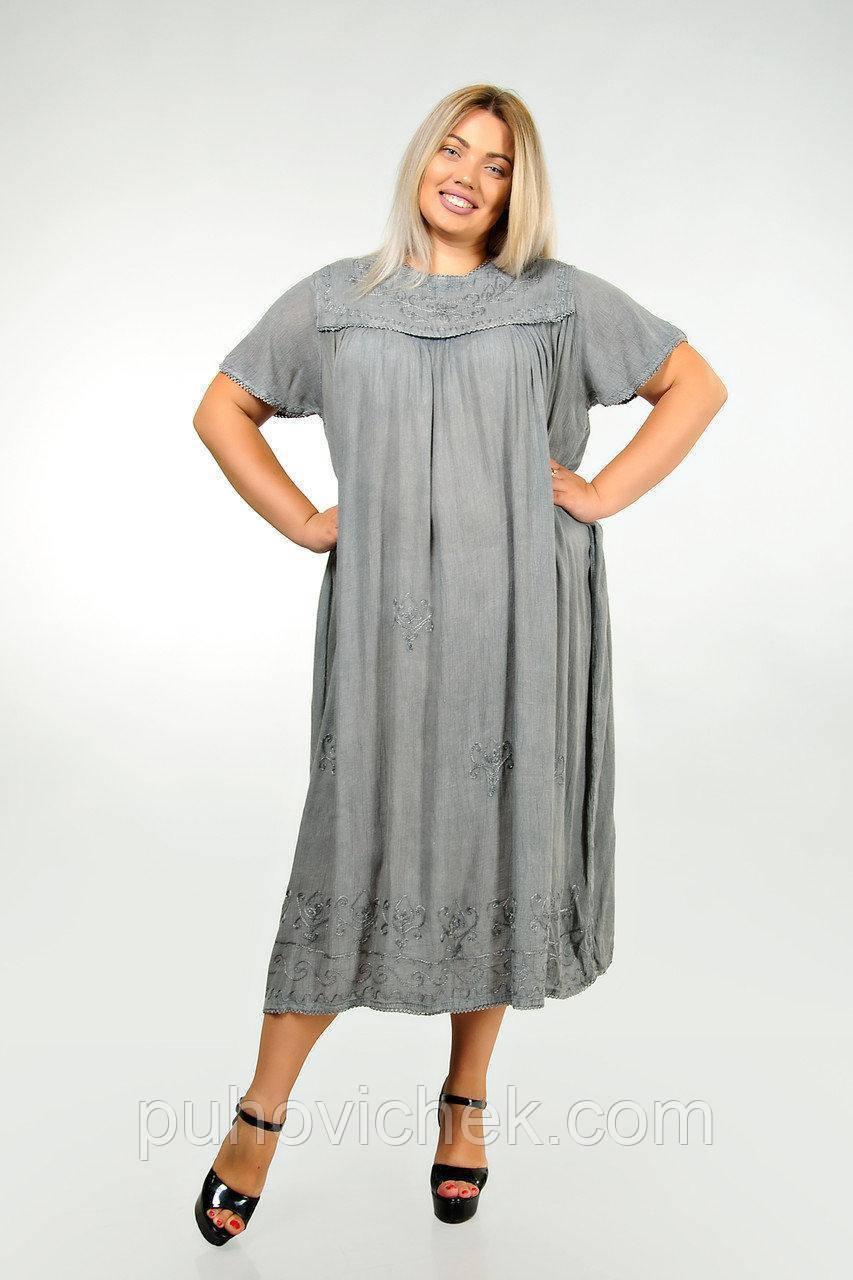 Женское летнее платье большого размера красивое