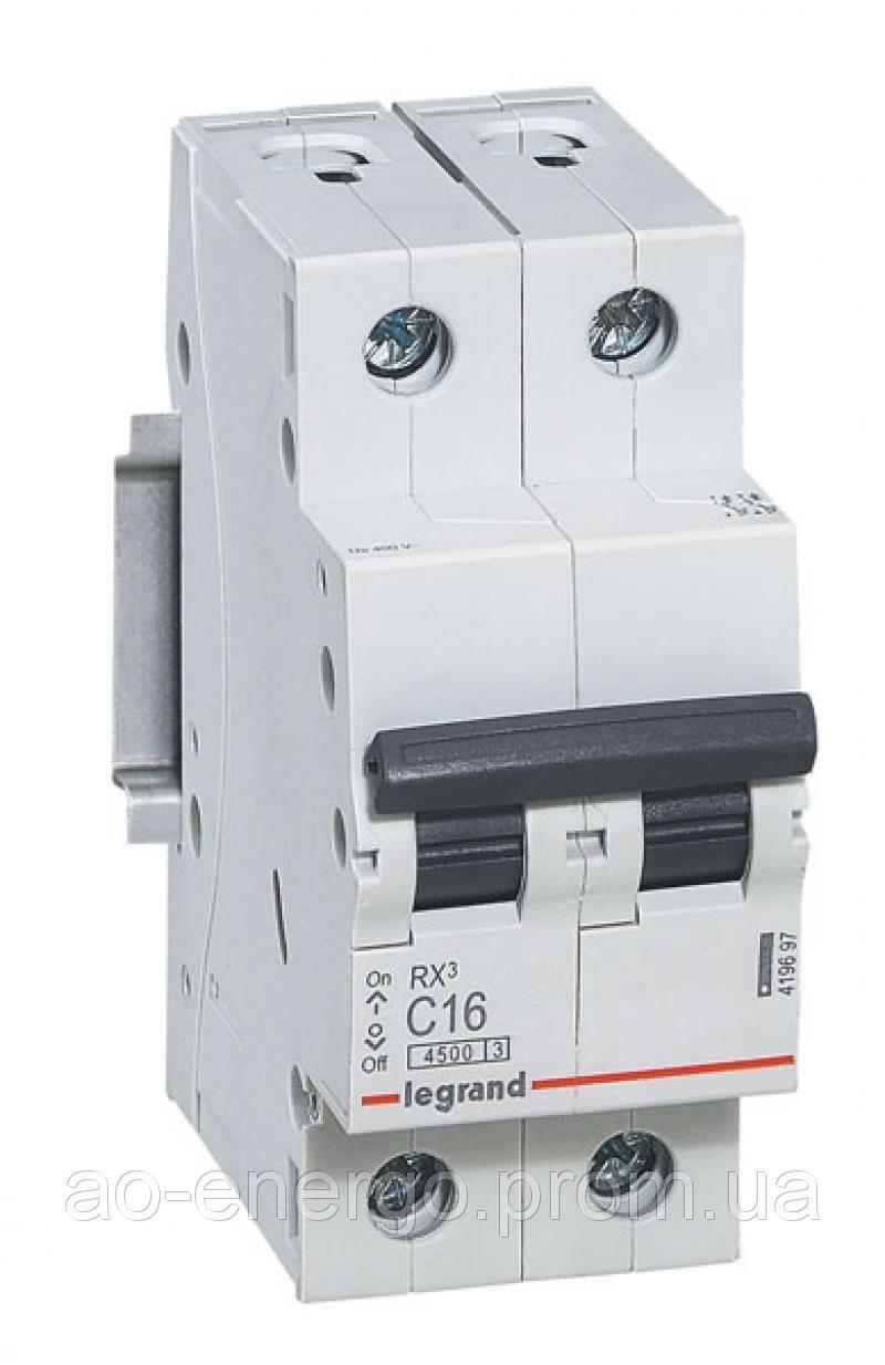 RX³ Автоматичний Вимикач 4,5кА 6А 2п C