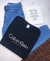 Футболка женская Calvin Klein. Черная женская футболка с принтом. ТОП КАЧЕСТВО!!!, фото 1