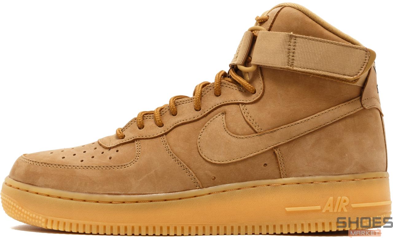 Мужские кроссовки Nike Air Force 1 High 07 LV8 Flax 882096-200, Найк Аир Форс
