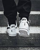 Мужские кроссовки Nike Air Force 1 Low NBA Pack White Black 823511-302, Найк Аир Форс, фото 3