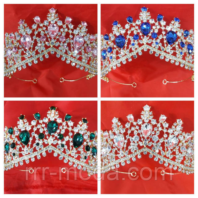 Бижутерия RRR свадебные тиара, корона. диадема оптом. Фото