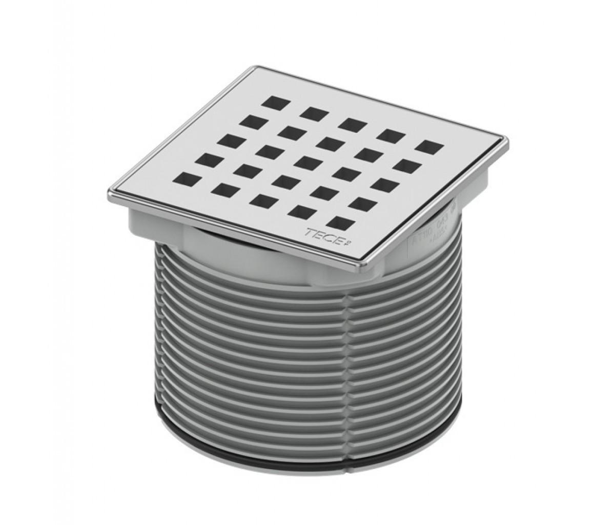 Верхняя вставка 100 мм quadratum TECE drainpoint S