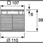 Верхняя вставка 100 мм quadratum TECE drainpoint S, фото 2