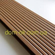 Террасная доска ДПК Prymus, цвет коричневый, размер 140х25х2400/4000 мм