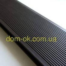 Террасная доска ДПК Prymus, цвет темно- коричневый, размер 140х25х2400/4000 мм