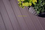 Террасная доска ДПК Prymus, цвет темно- коричневый, размер 140х25х2400/4000 мм, фото 2