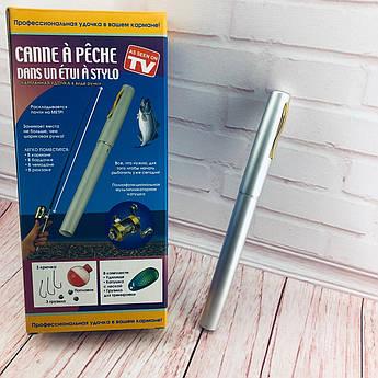 Мини-удочка складная походная в виде ручки fishPen спиннинг карманный