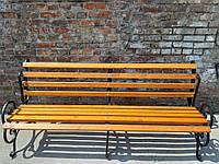 Кованая лавка садовая Ольга 2м (10брусов)  на трех опорах, фото 1