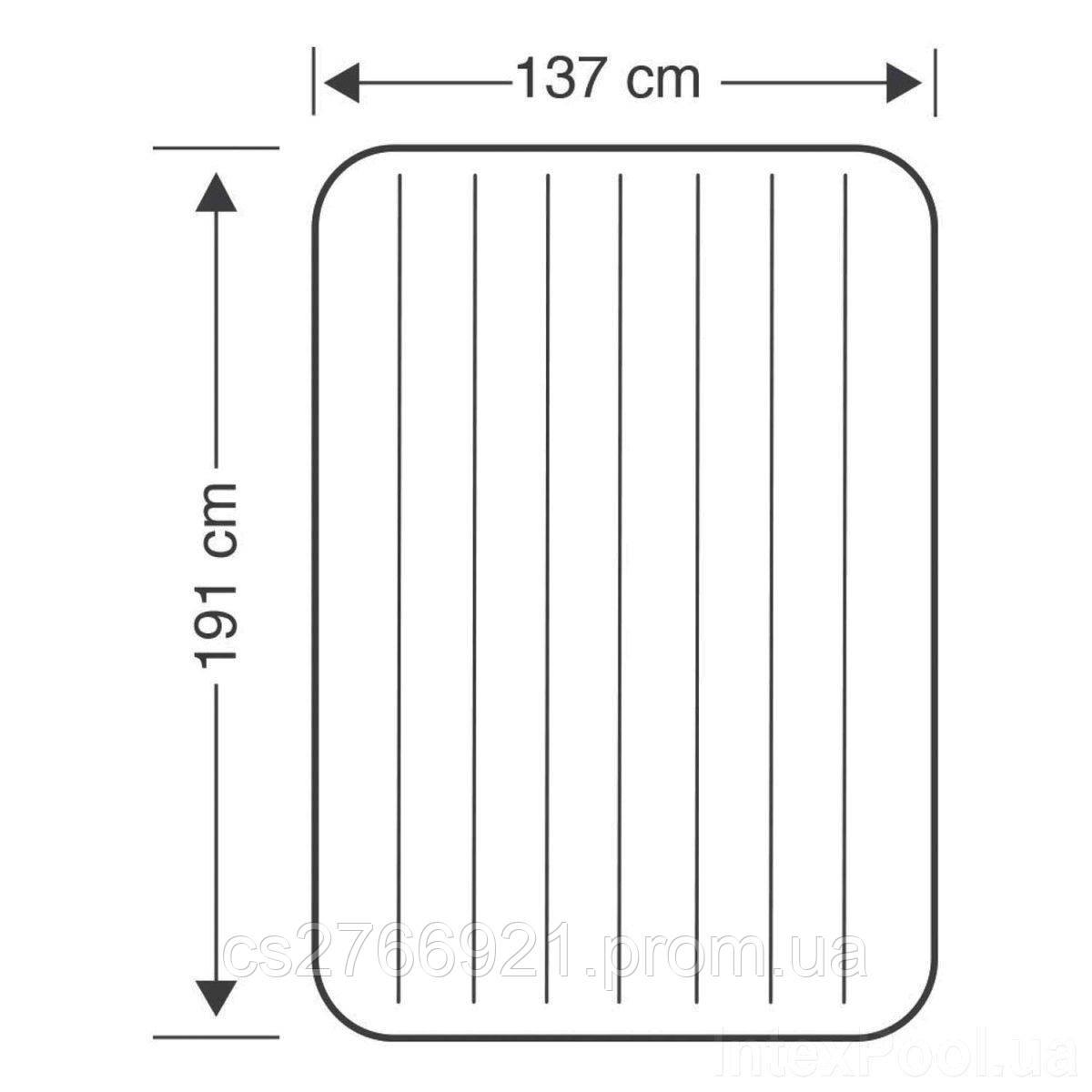 Надувной матрас Intex 68758, 137 х 191 х 22 см.