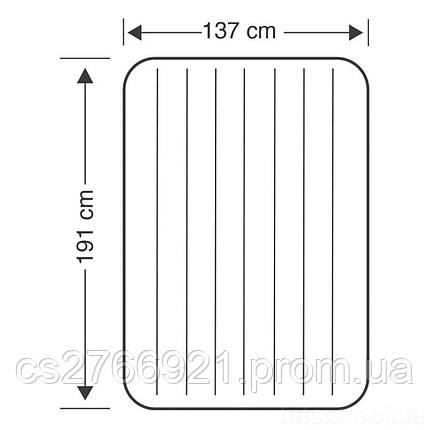 Надувной матрас Intex 68758, 137 х 191 х 22 см., фото 2