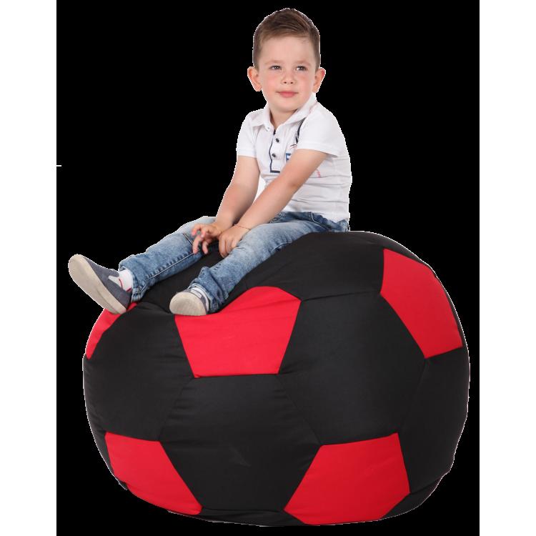 Кресло-мешок Мяч Хатка Черный с красным