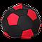Кресло-мешок Мяч Хатка Черный с красным, фото 2