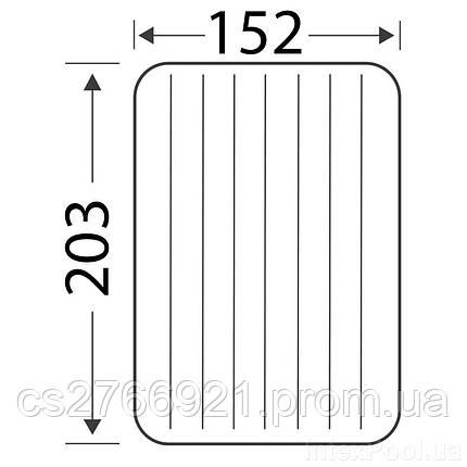 Надувной матрас Intex 68765, 152 х 203 х 22 см, с двумя подушками, насосом. Двухместный, фото 2