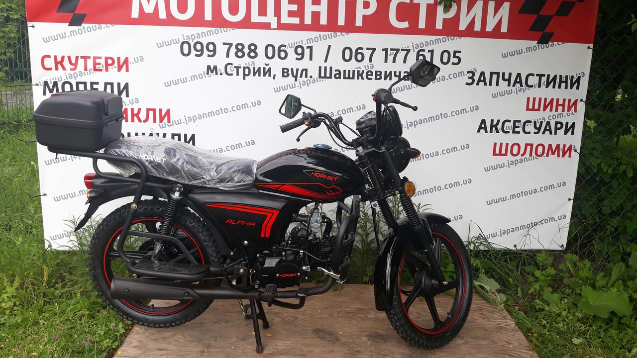 Мопед Hornet Alpha 125cc чорний колір