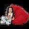 Кресло-мешок Груша Хатка детская красная, фото 2