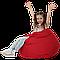 Кресло-мешок Груша Хатка детская красная, фото 4
