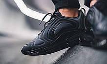 Мужские кроссовки Nike Air Max 720 Black Total Eclipse AO2924-004, Найк Аир Макс 720, фото 2