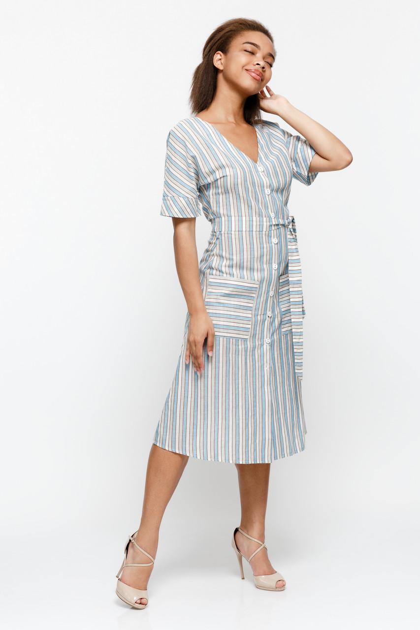 Платье LiLove 1-015-1 42 бирюзовый