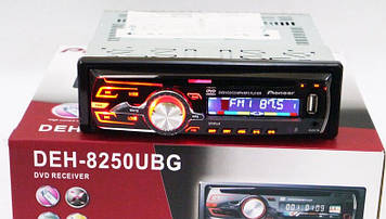 DVD Автомагнітола DEH-8250UBG USB Sd MMC DVD знімна панель